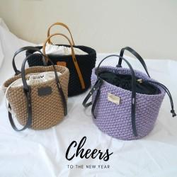 包包套組|兩用圓桶包|PU