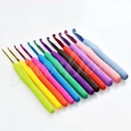 飽和糖果鉤針組|彩鉤|12支