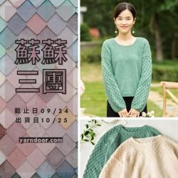 蘇蘇三團-惠然鏤空毛衣