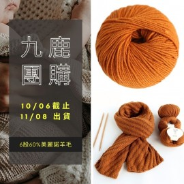 「九鹿團購」寒露 美麗諾粗羊毛 250g