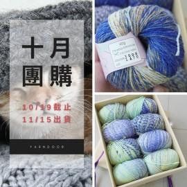 「十月團購」魔彩 段染羊毛 40g×4